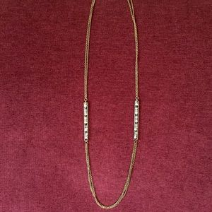 Anthropologie Inlay Bar Necklace